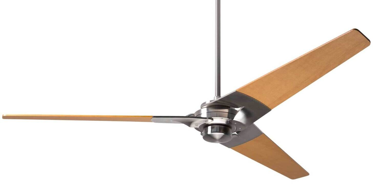 TORSION Ø132 or 157 Design ceiling fan bright nickel/maple