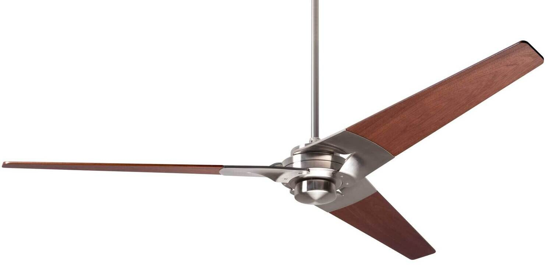 TORSION Ø132 or 157 Design ceiling fan bright nickel/mahogany