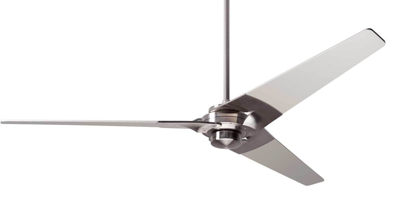 TORSION Ø132 or 157 Design ceiling fan bright nickel/nickel