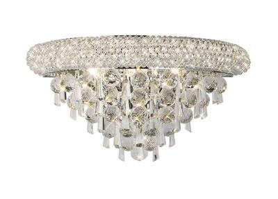 Alexandra Wall Lamp Medium Polished Chrome/Crystal 3 Light E14