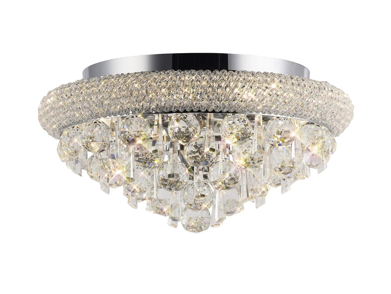Alexandra Ceiling Light Polished Chrome/Crystal 6 Light E14