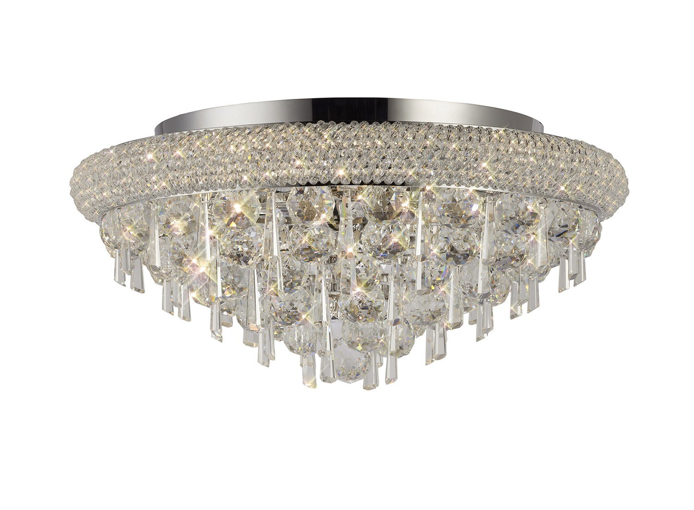 Alexandra Ceiling Light Polished Chrome/Crystal 7 Light E14