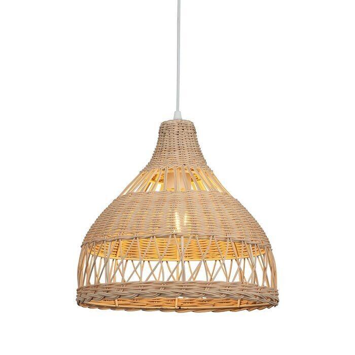 LANTE braided bamboo luminaire 1xE27