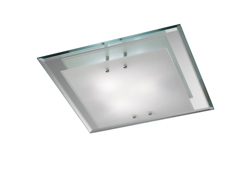 Mira Ceiling, 400mm Square, 3 Light E27 Polished Chrome