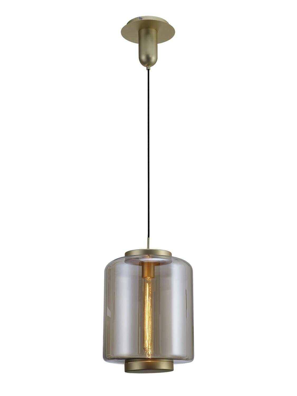 Jarras Pendant 30cm Round 1 x E27 Matt Gold / Cognac Glass