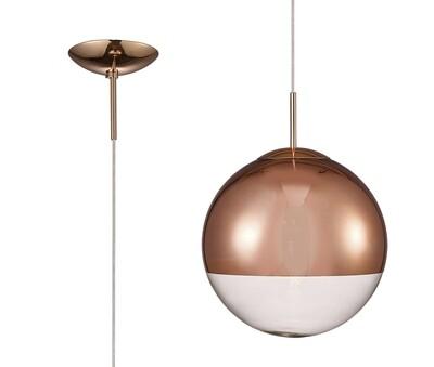 Miranda Medium Ball Pendant 1 Light E27 Copper