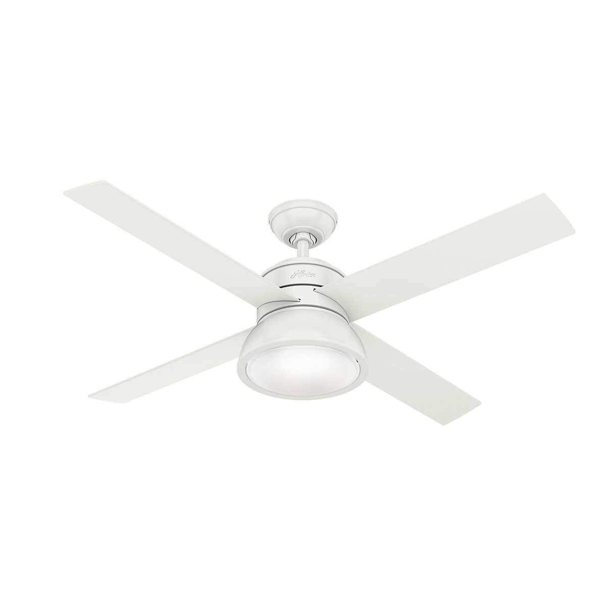 HUNTER LOKI Fresh White ceiling fan Ø137 with Integrated Luminaire and Remote Control