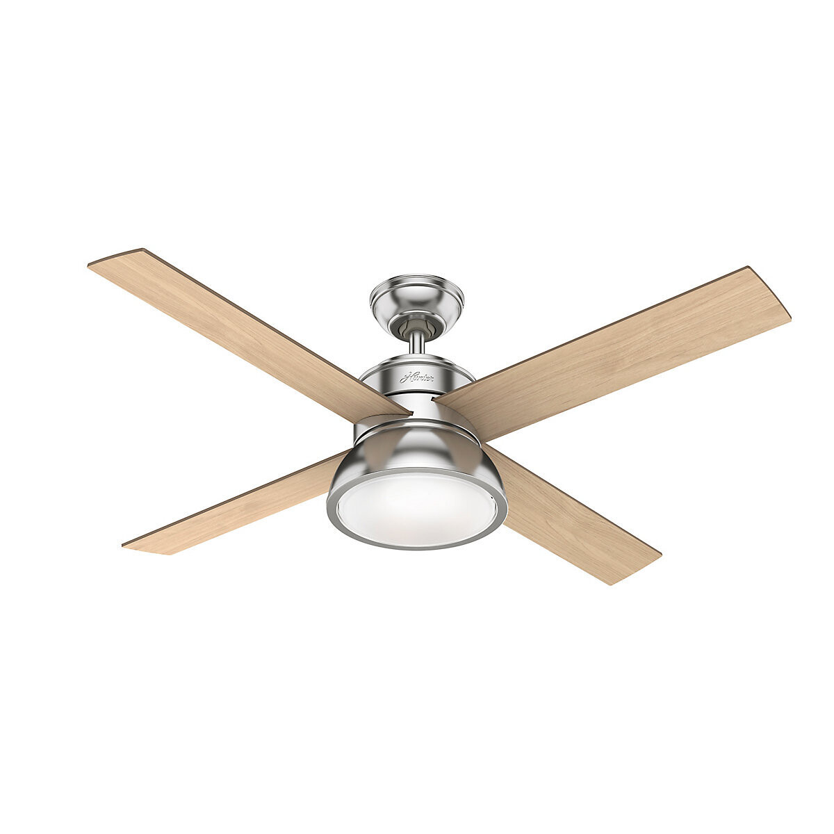 HUNTER LOKI Brushed Nickel ceiling fan Ø137 with Integrated Luminaire and Remote Control