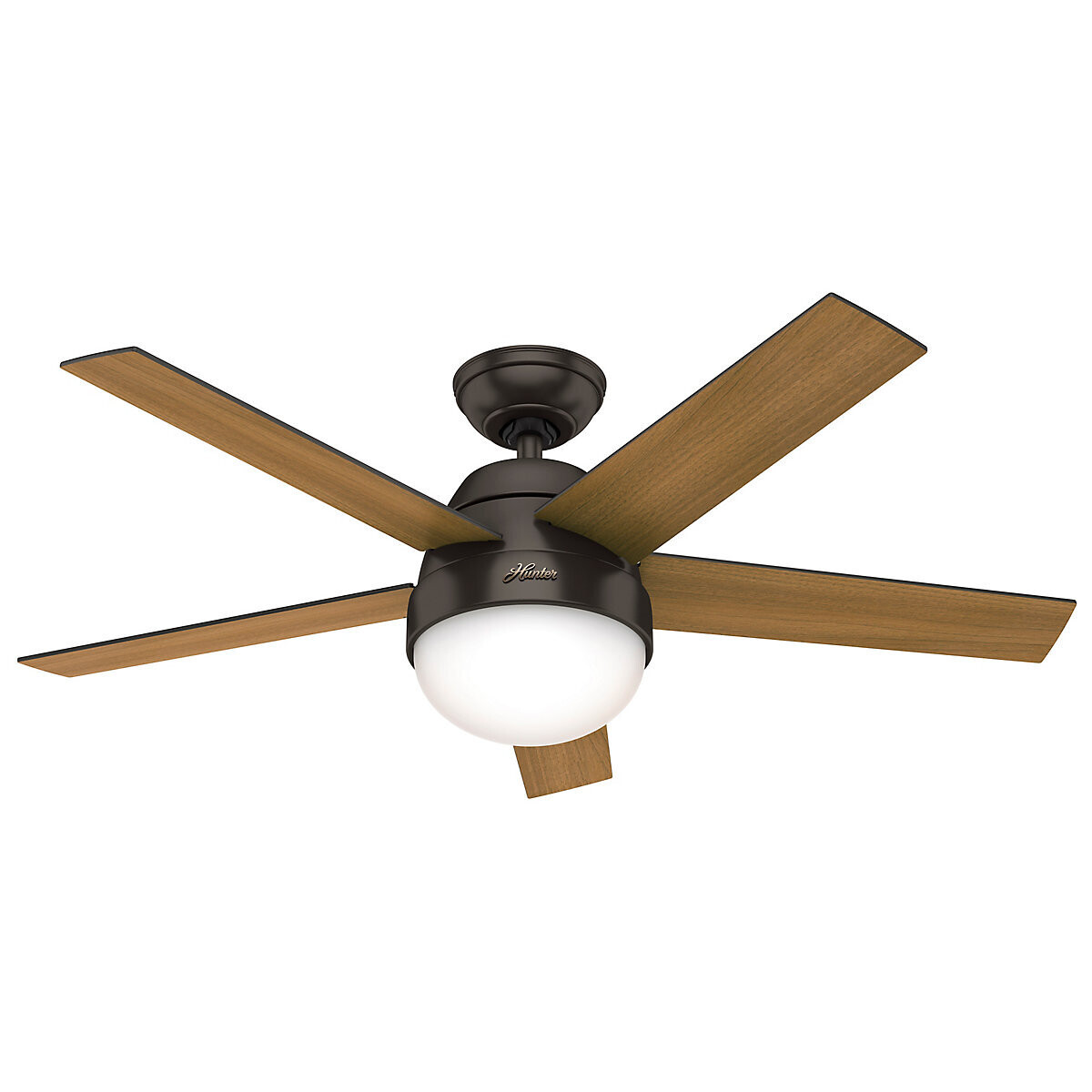 HUNTER STILE Premier Bronze ceiling fan Ø117 with Integrated Luminaire and Remote Control