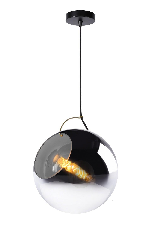 JAZZLYNN Pendant E27 Ø30cm Smoke Glass
