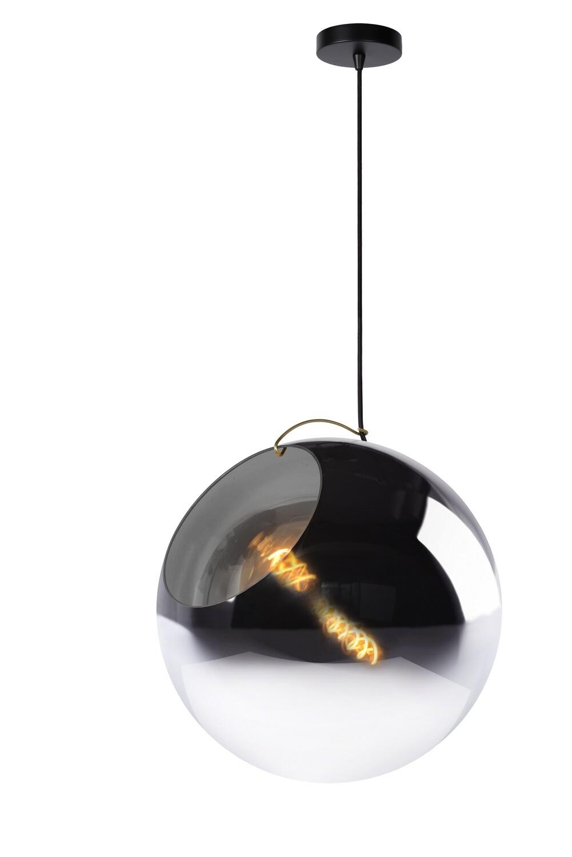JAZZLYNN Pendant E27 Ø40cm Smoke Glass
