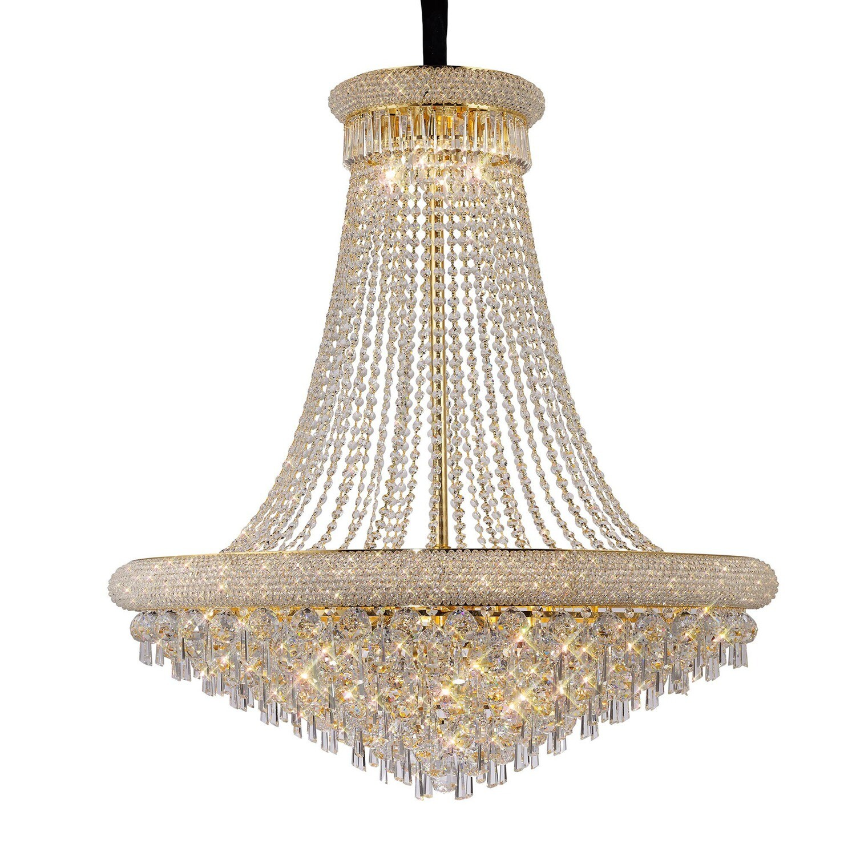 Alexandra Pendant Gold/Crystal 20 Light E14