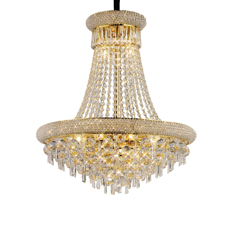 Alexandra Pendant Gold/Crystal 13 Light E14