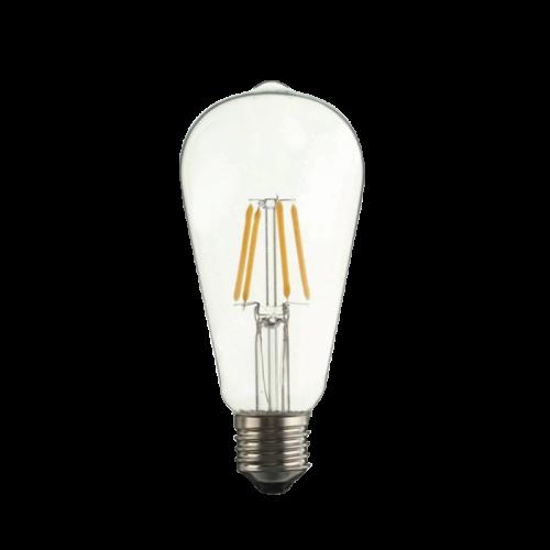 Edison style LED ST64  E27 230V 6W 2700K, 600lm, Clear
