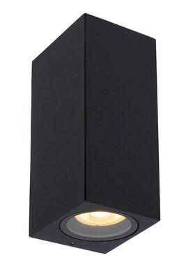 ZARO square Wall spotlight Outdoor  2xGU10 IP44 Black