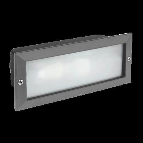 BANADOR Wall recessed luminaire 1xE27 IP54 Grey