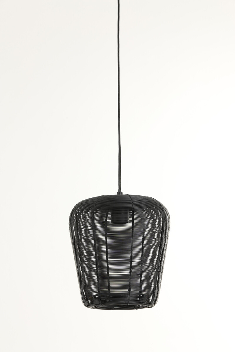 ADETA Hanging lamp Ø23x25 cm matt black