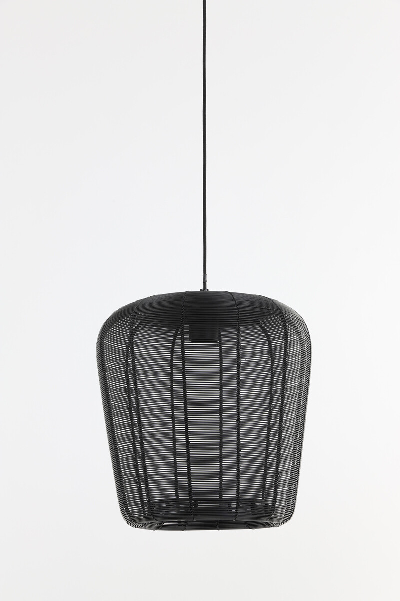 ADETA Hanging lamp Ø28x30 cm matt black