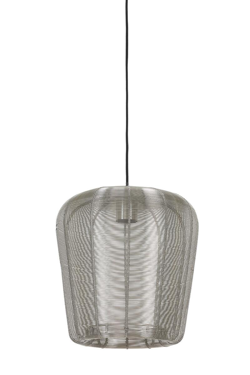 ADETA Hanging lamp Ø28x30 cm nickel