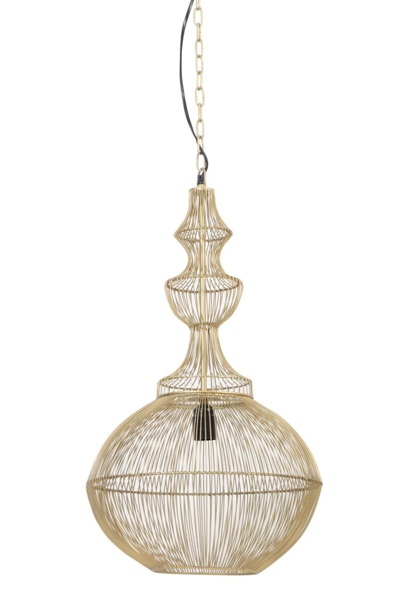 OPHELIA Hanging lamp Ø36x71 cm shiny gold