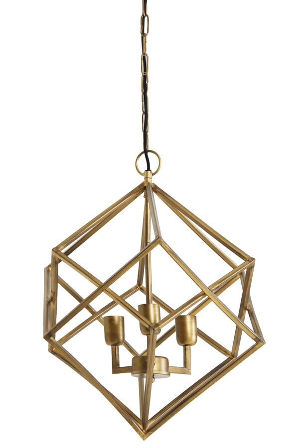 DRIZELLA Hanging lamp 3L Ø46x56 cm gold