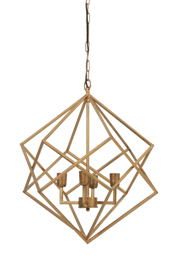 DRIZELLA Hanging lamp 4L Ø61x68 cm gold