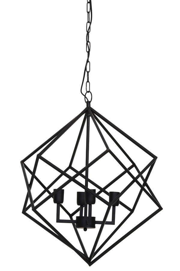 DRIZELLA Hanging lamp 4L Ø61x68 cm matt black