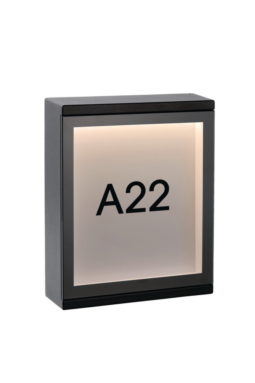 CADRA Wall light Outdoor LED -x6W 3000K IP54 Black