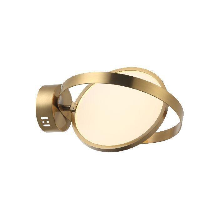 MOLVENO Single Wall Lamp LED Ø25cm 12W 3000K Antique Brass