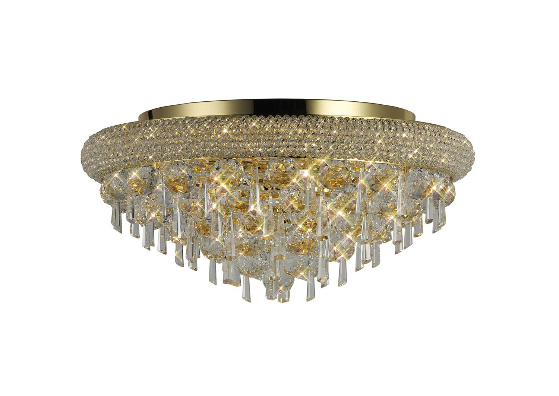 Alexandra Ceiling Light Gold/Crystal 7 Light E14
