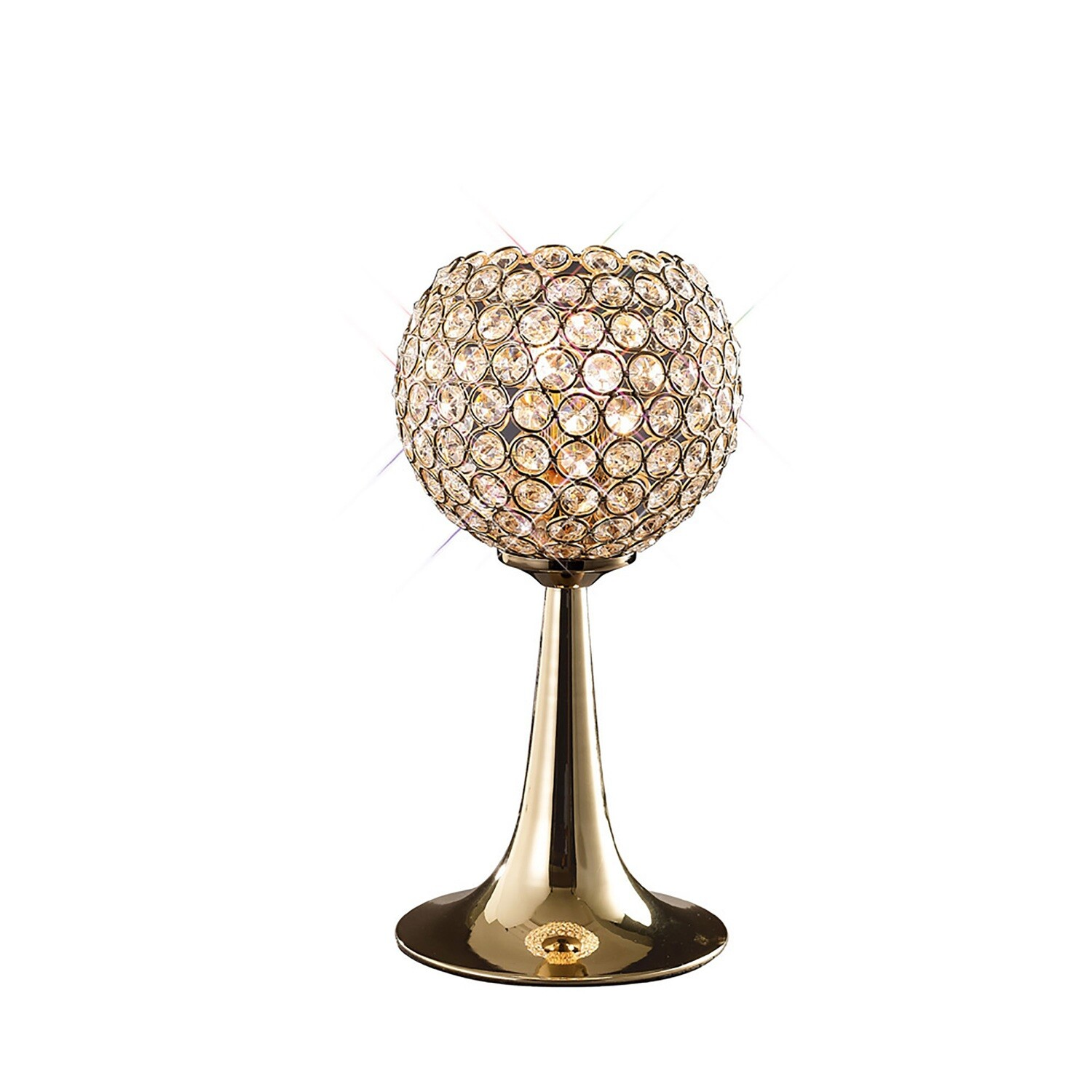 Ava Table Lamp 2 Light French Gold /Crystal