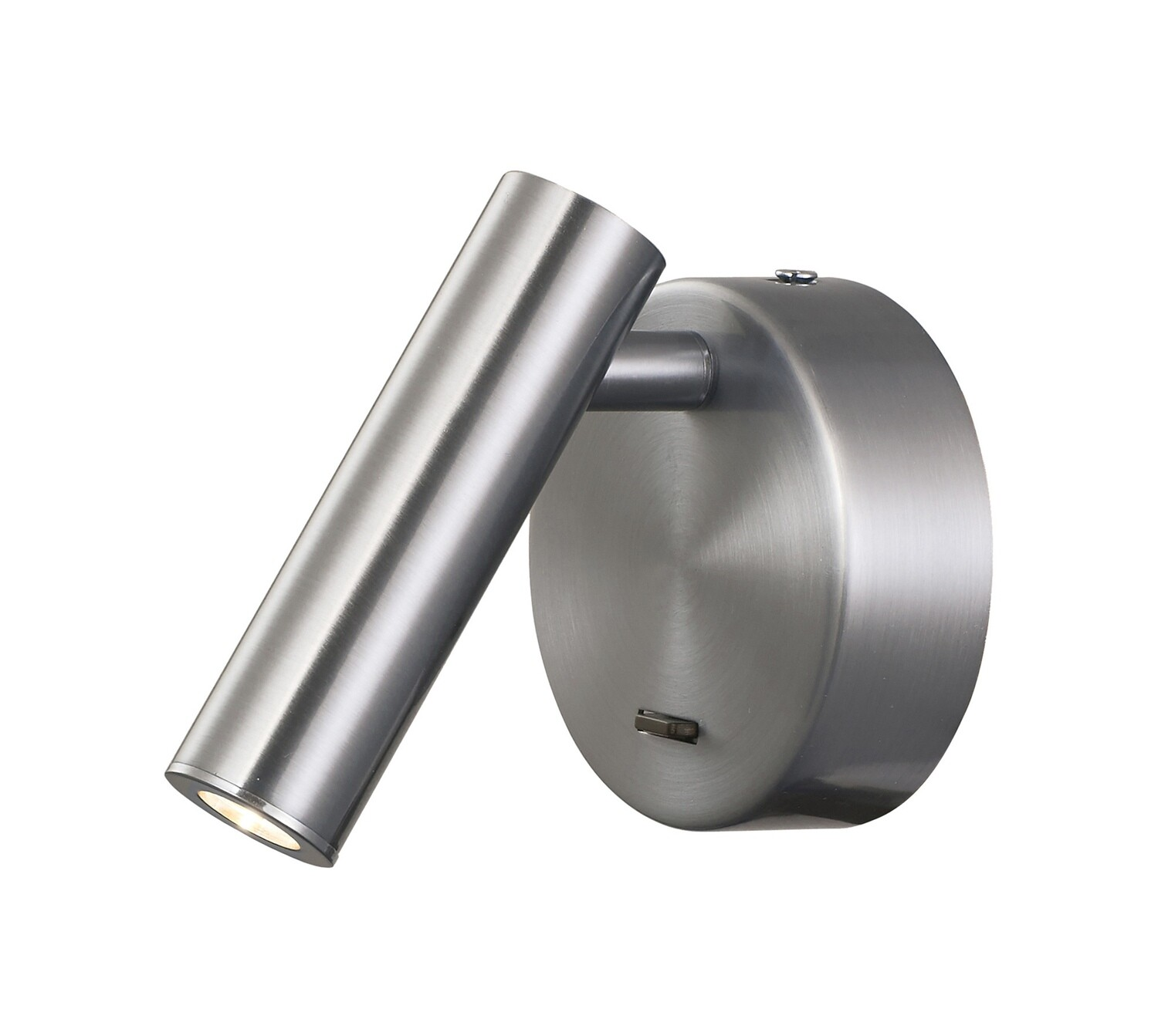 Prea Wall/Reading Light, 3W LED, 3000K, 210lm, Switched, Satin Nickel
