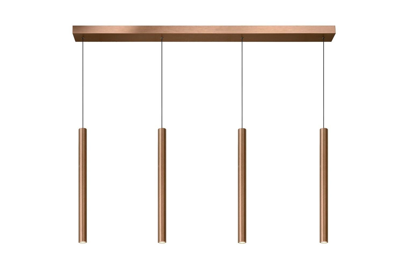 LORENZ  linear Pendant LED 4x4W Rust Brown