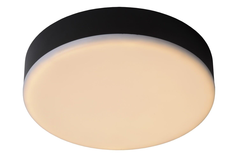 CERES LED Flush ceiling light IP44  Ø 21,5 cm  LED Dim. 1x30W 3000K Black
