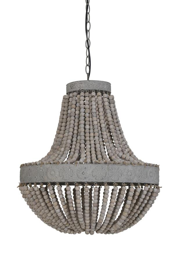 LUNA Hanging lamp beads Ø51x63 cm 1xE27 old white