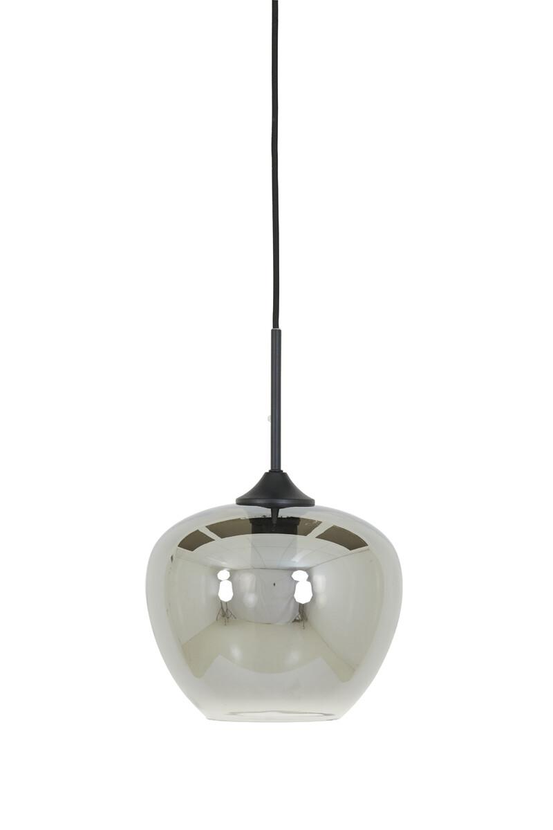 MAYSON single pendant Ø23x18 1xE27 Smoke Grey Glass / Black
