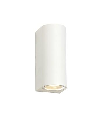 ZARO Curved Wall Lamp, 2 x GU10, IP54, Sand White