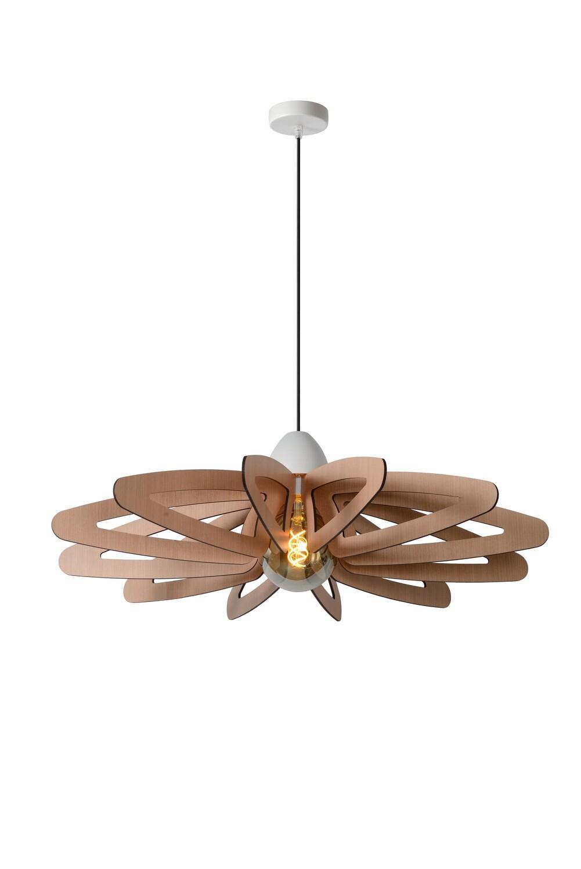 ZIDANE Pendant light Ø 76cm 1xE27 Light Wood / White