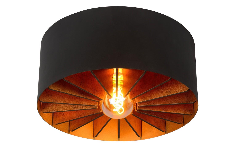 ZIDANE Flush ceiling light Ø 40cm 1xE27 Black