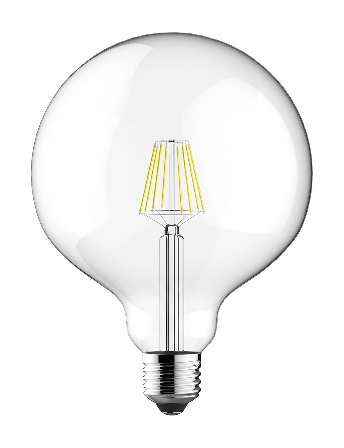 E27-LED filament Globe D125 6.5W 2700K (warm white) 806lm clear DIMMABLE