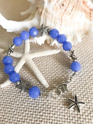Blue and Silver Starfish
