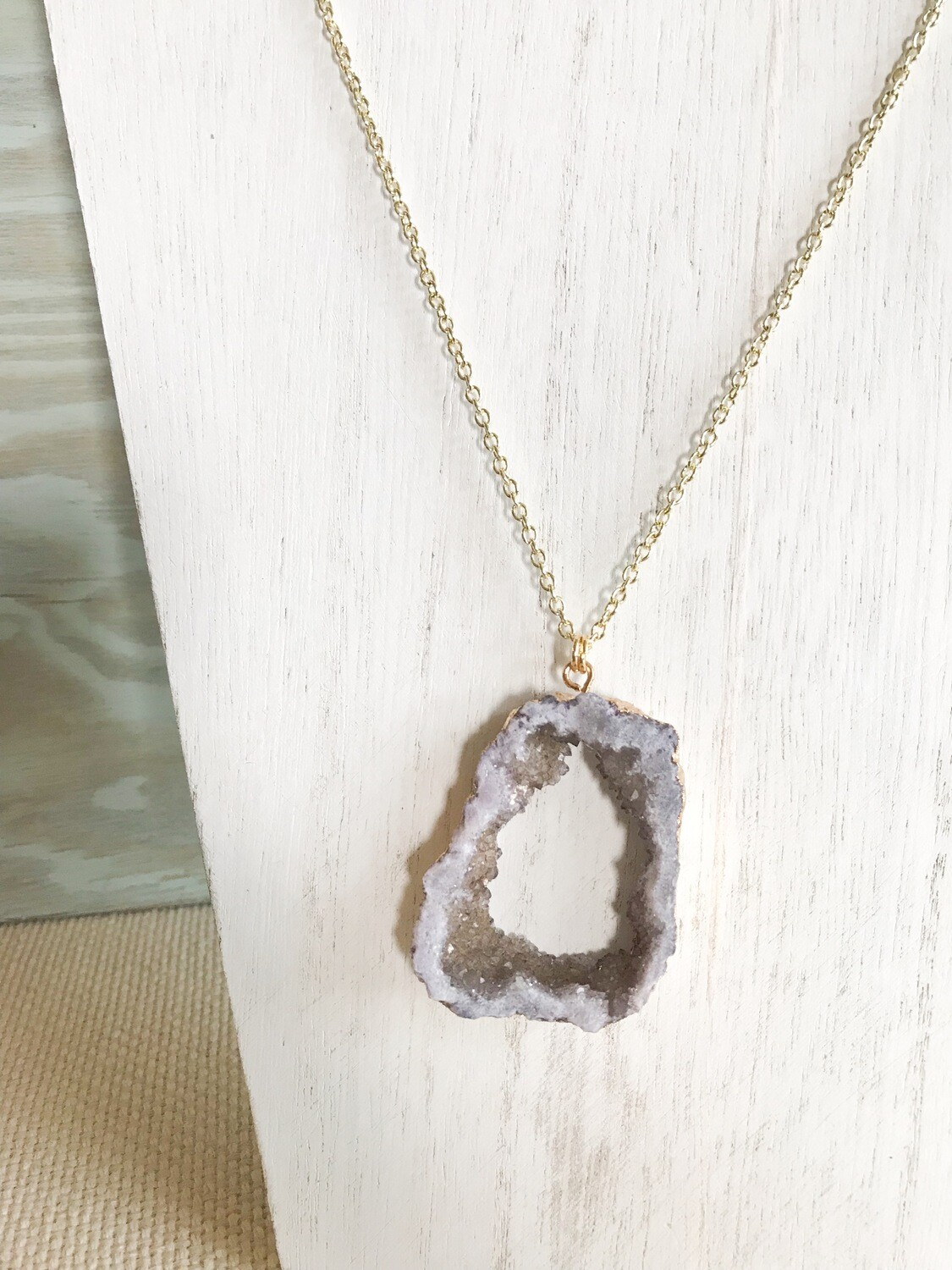Light Purple/Gray Druzy - long style