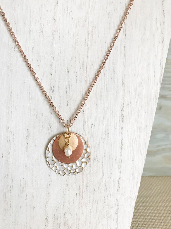 Rose Gold Antiqued Circles