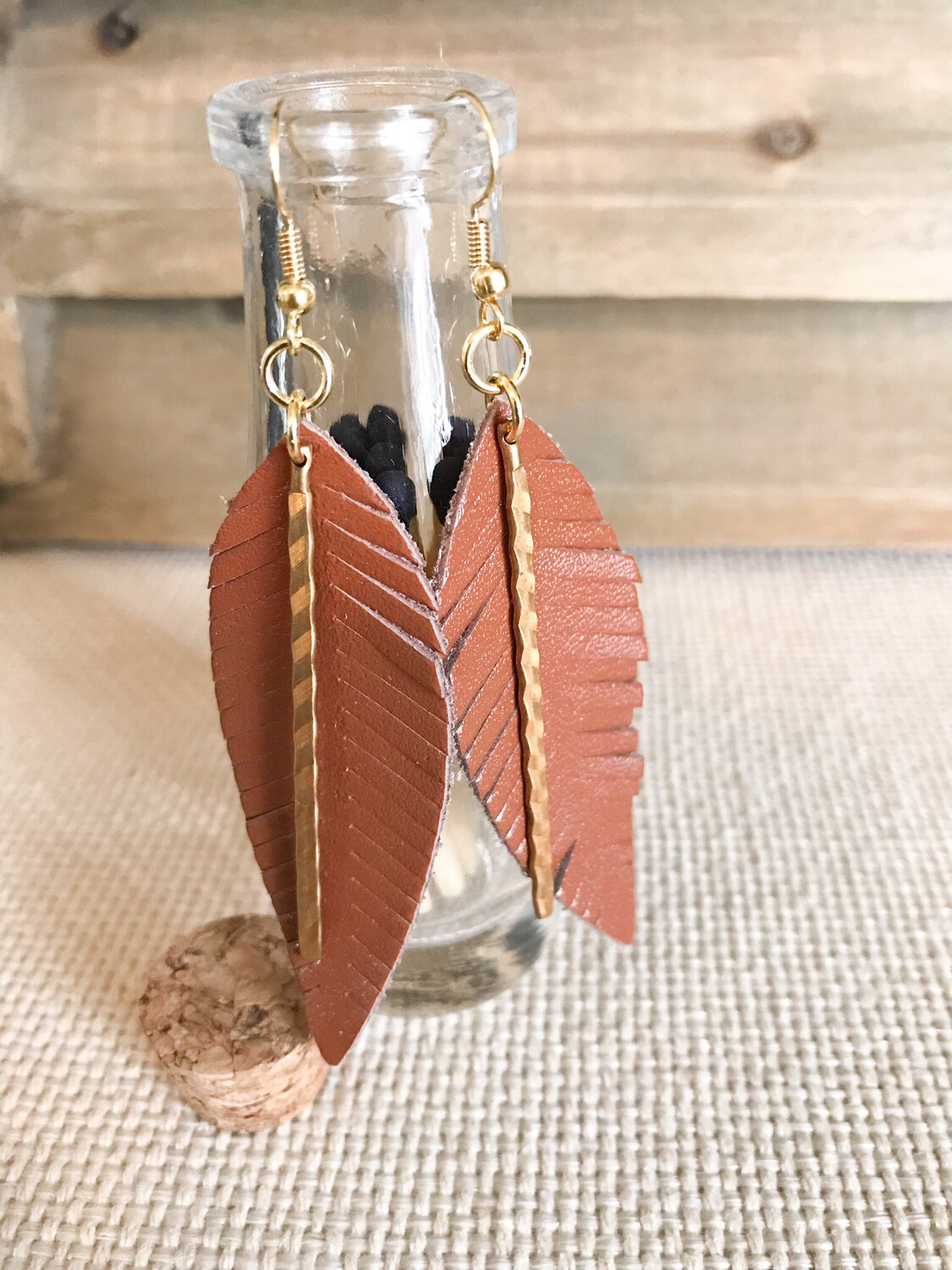 Brown Leather & Gold Metal