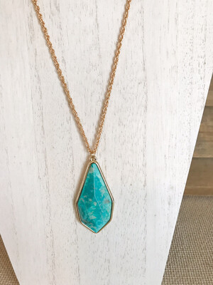 Turquoise & Gold - Long