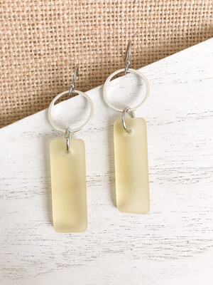 Yellow Seaglass - Silver