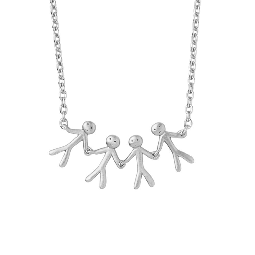 TOGETHER - FAMILY NECKLACE 4 - SILVER