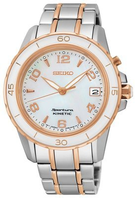 SEIKO SPORTURA KINETIC 37MM SAFIR 100M MOP XL