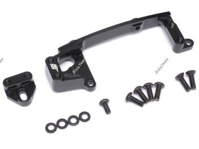 Boom Racing Aluminum Servo Mounts Black for Axial SCX10 II BR955011BK
