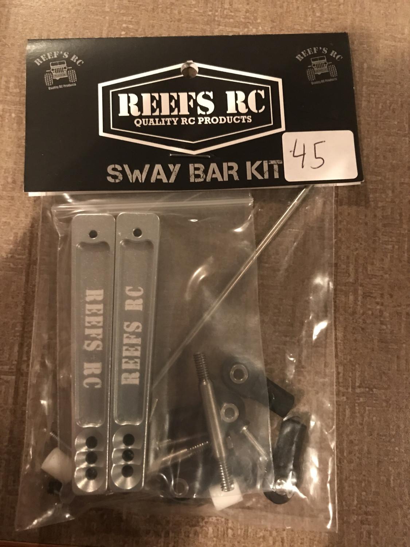 Reefs 7075 Hard Anodized Aluminum Sway Bar Kit - Silver (21pcs) SEHREEFS18